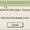 550_vti_cnf: Cannot create a file when that file already exists FTP Sunucusu'nda klasör oluşturulurken bir hata oluştu. Sunucuya dosya koyma izniniz olduğundan emin olun. IIS 6 üzerinde host edilen bir […]