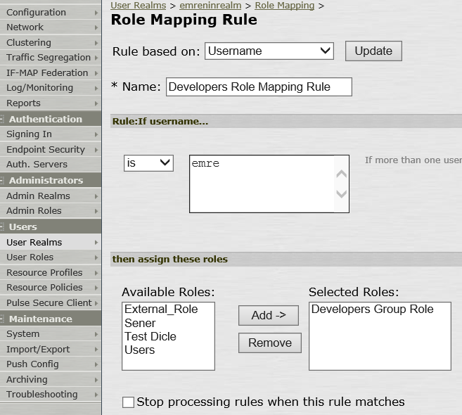 5. Pulse Role Mapping